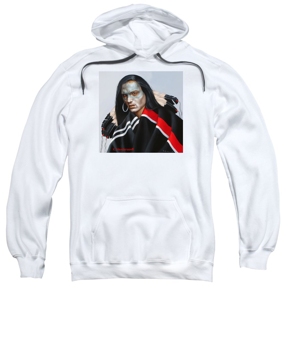 American Indian Sweatshirt featuring the painting Dream Within A Dream by K Henderson