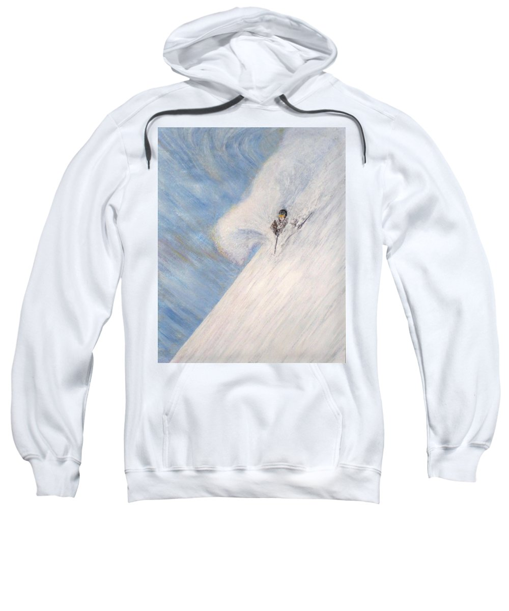 Landscape Sweatshirt featuring the painting Dreamsareal by Michael Cuozzo