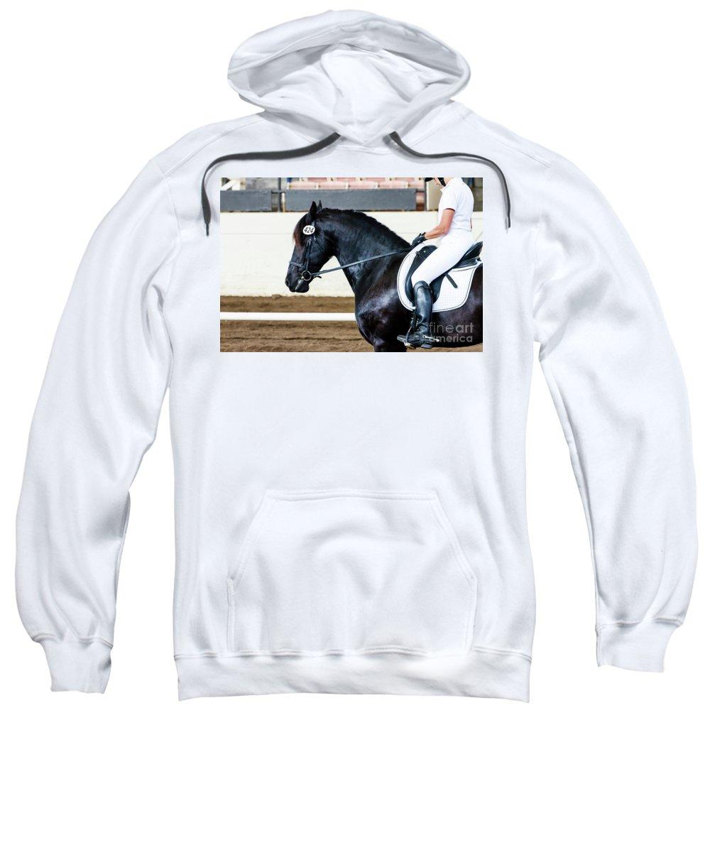 Horse Sweatshirt featuring the photograph Dressage Horse Show by Ben Graham