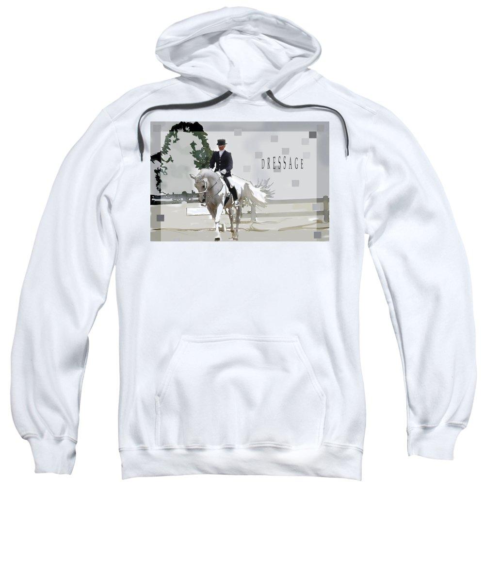 Jenny Gandert Sweatshirt featuring the digital art Dressage by Jenny Gandert