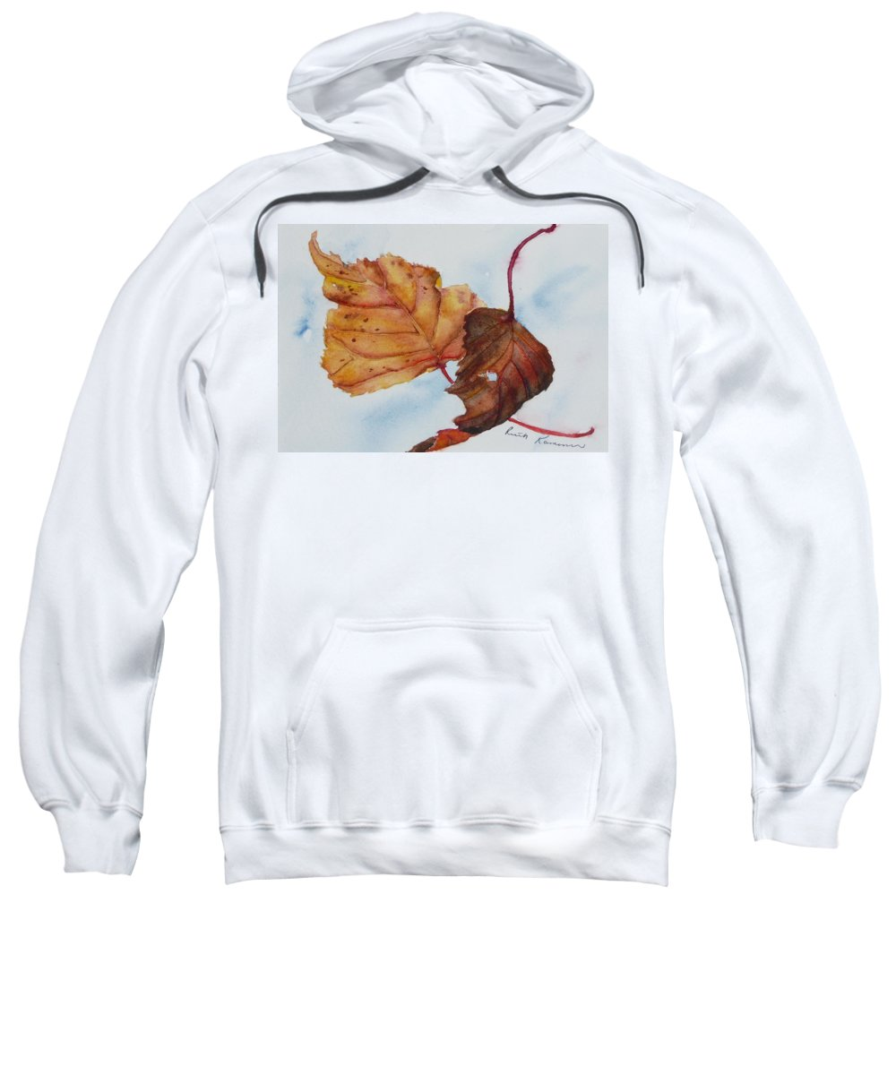 Fall Sweatshirt featuring the painting Drifting by Ruth Kamenev