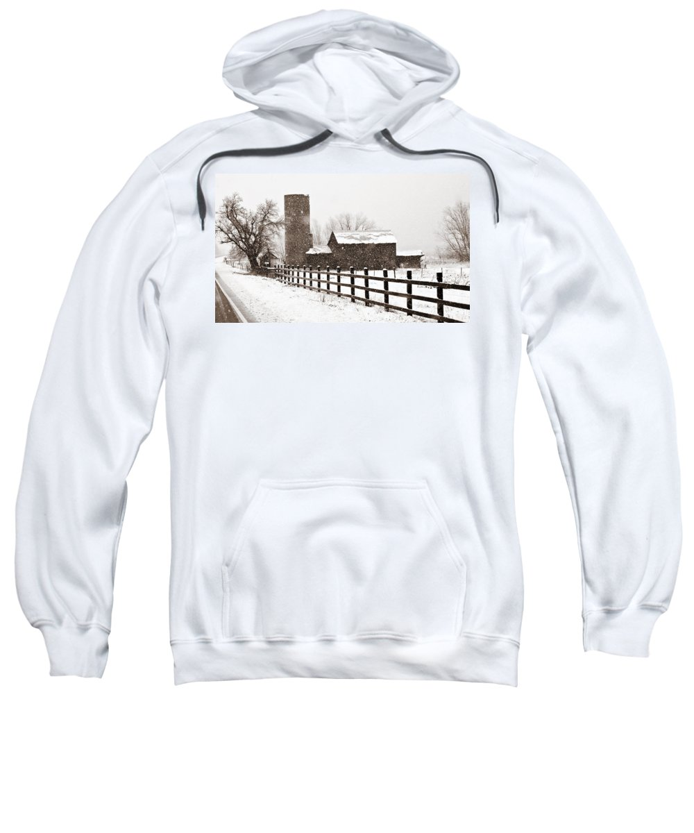 Americana Sweatshirt featuring the photograph Driving Down Cherryvale by Marilyn Hunt