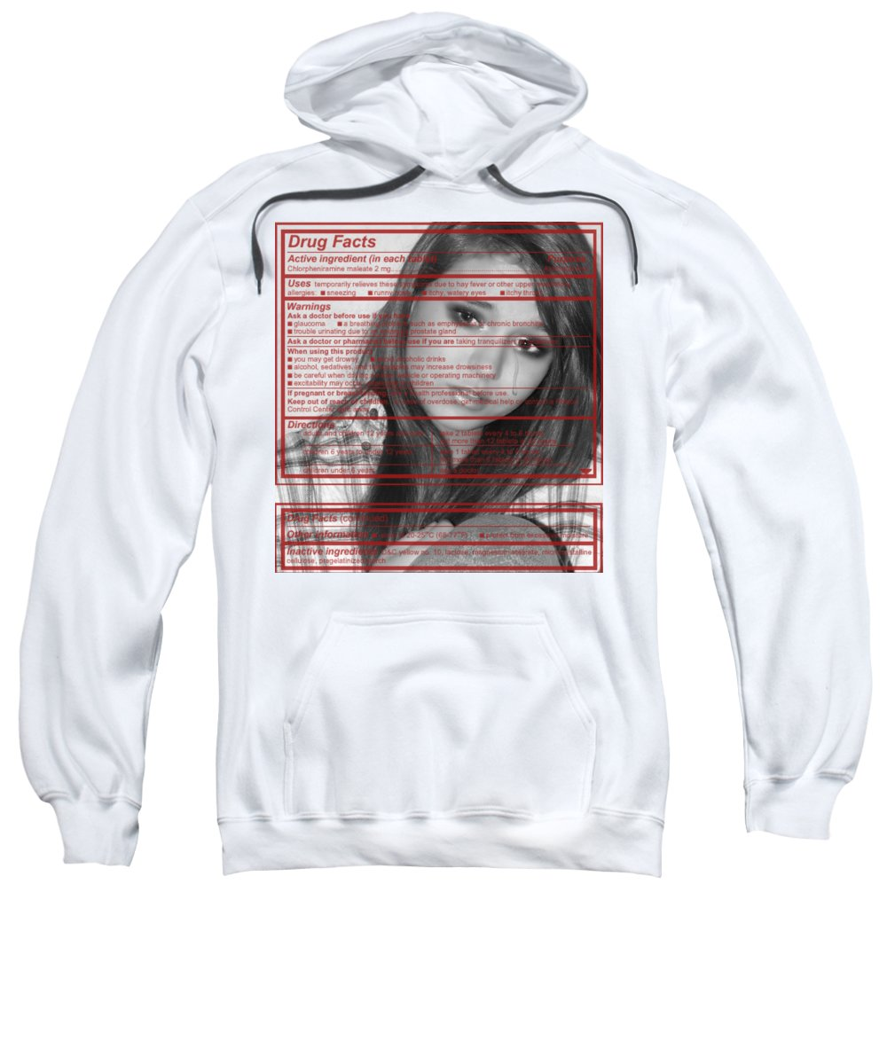 Teens Sweatshirt featuring the photograph Drug Facts by Kristie Bonnewell