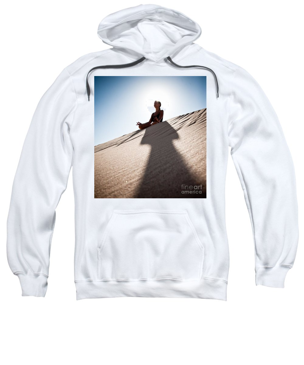Yoga Sweatshirt featuring the photograph Dry Meditation by Scott Sawyer