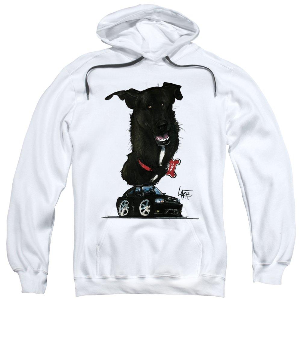 Pet Portrait Sweatshirt featuring the drawing Durbal 3340 by John LaFree