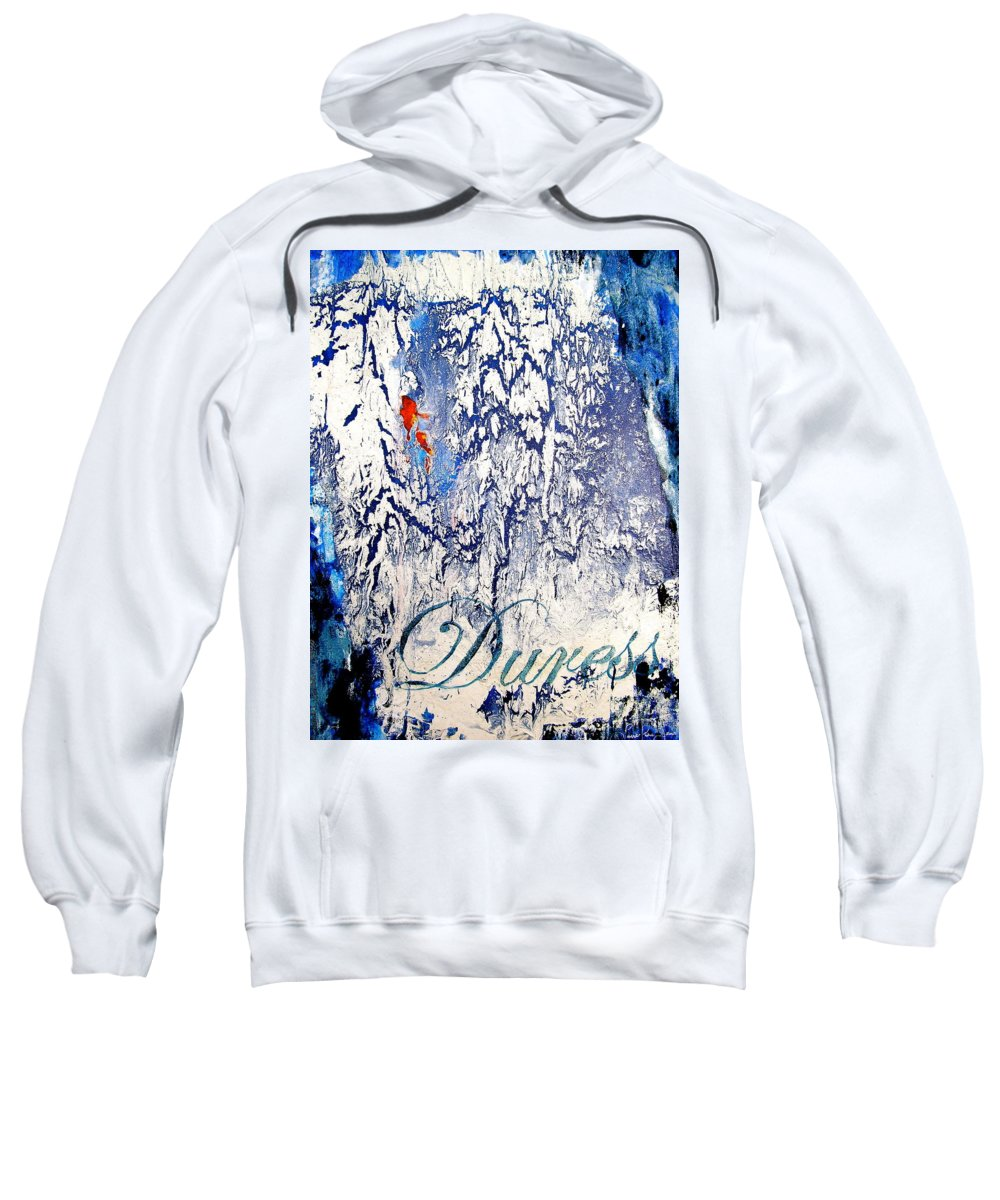 Abstract Art Sweatshirt featuring the painting Duress by Laura Pierre-Louis
