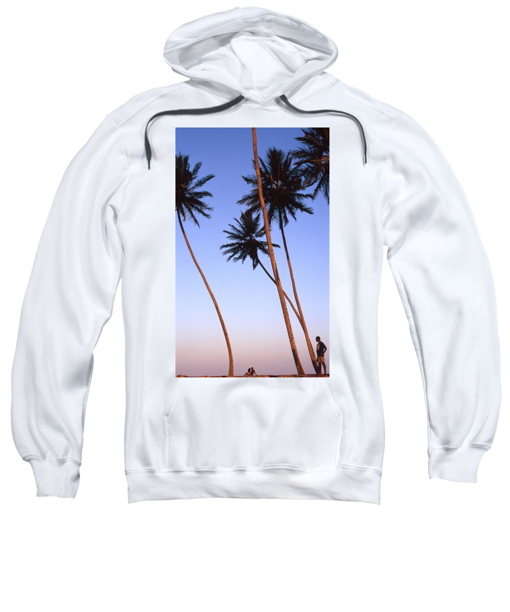 Bahia Sweatshirt featuring the photograph Dusk In Morro by Patrick Klauss