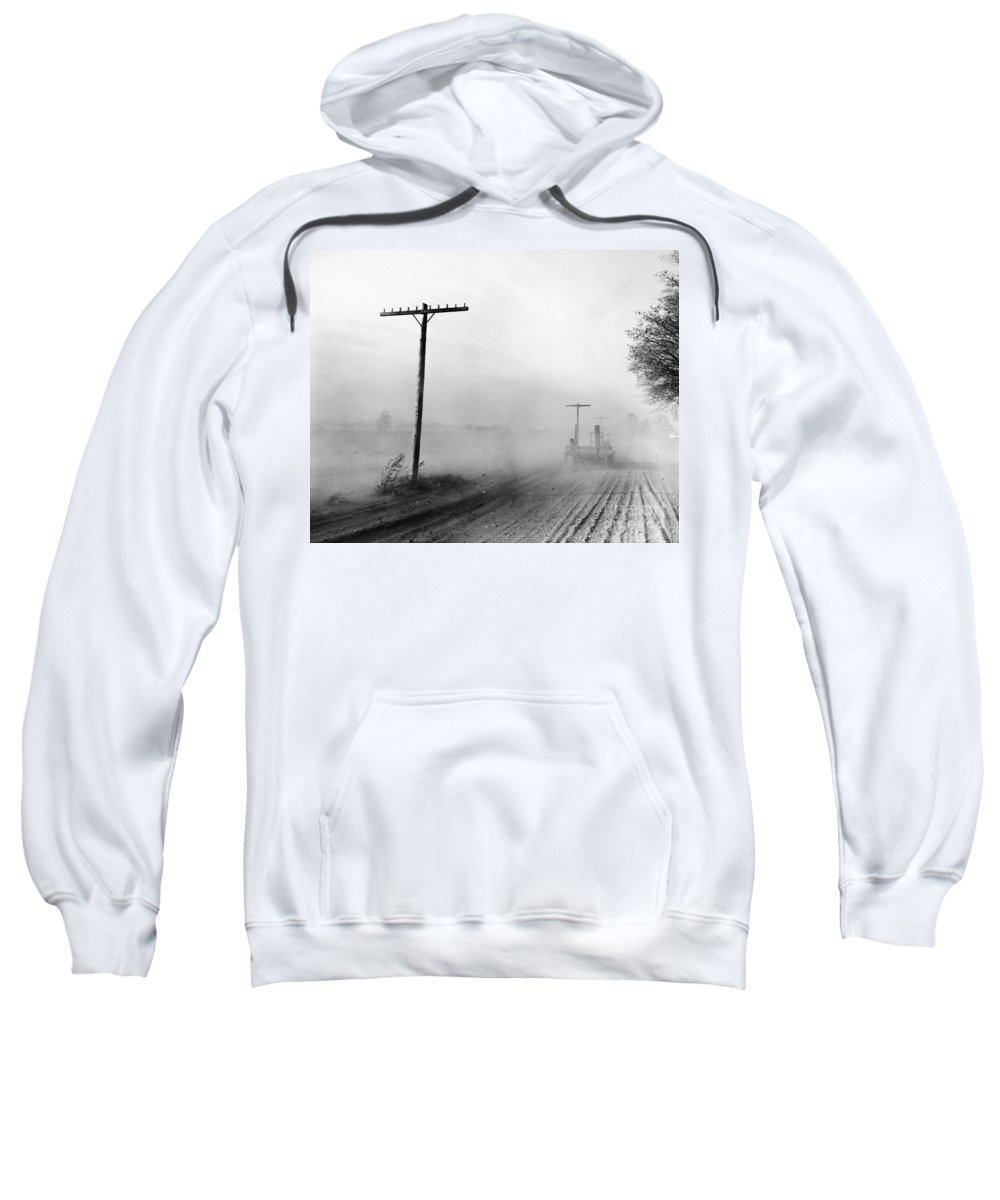 1936 Sweatshirt featuring the photograph Dust Bowl, C1936 by Granger