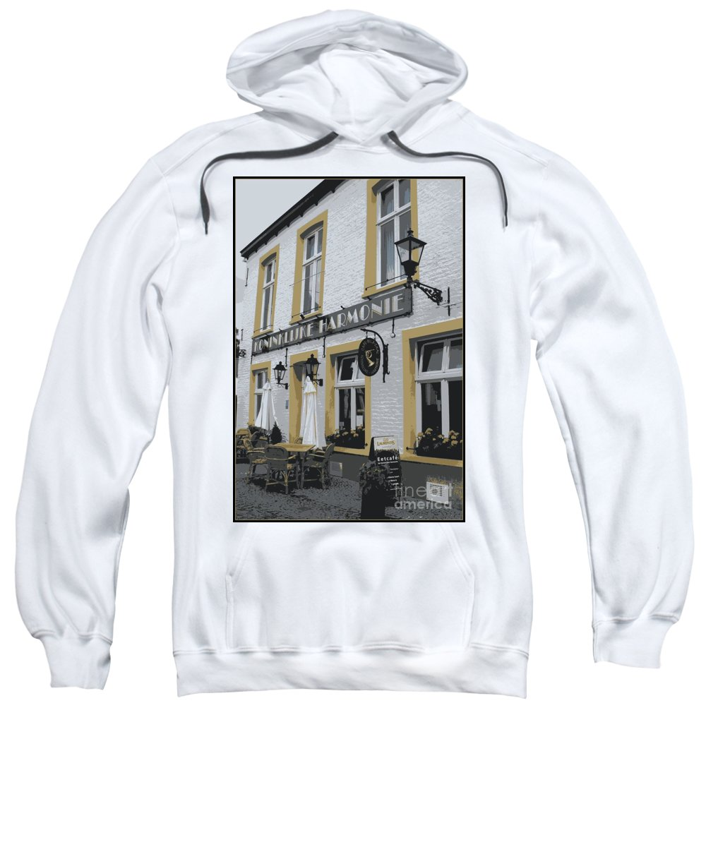 Gray And Yellow Sweatshirt featuring the photograph Dutch Cafe - Digital by Carol Groenen