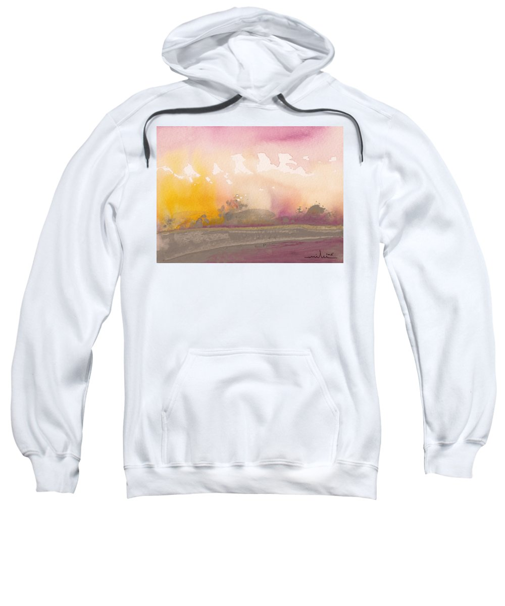 Nature Sweatshirt featuring the painting Early Morning 03 by Miki De Goodaboom