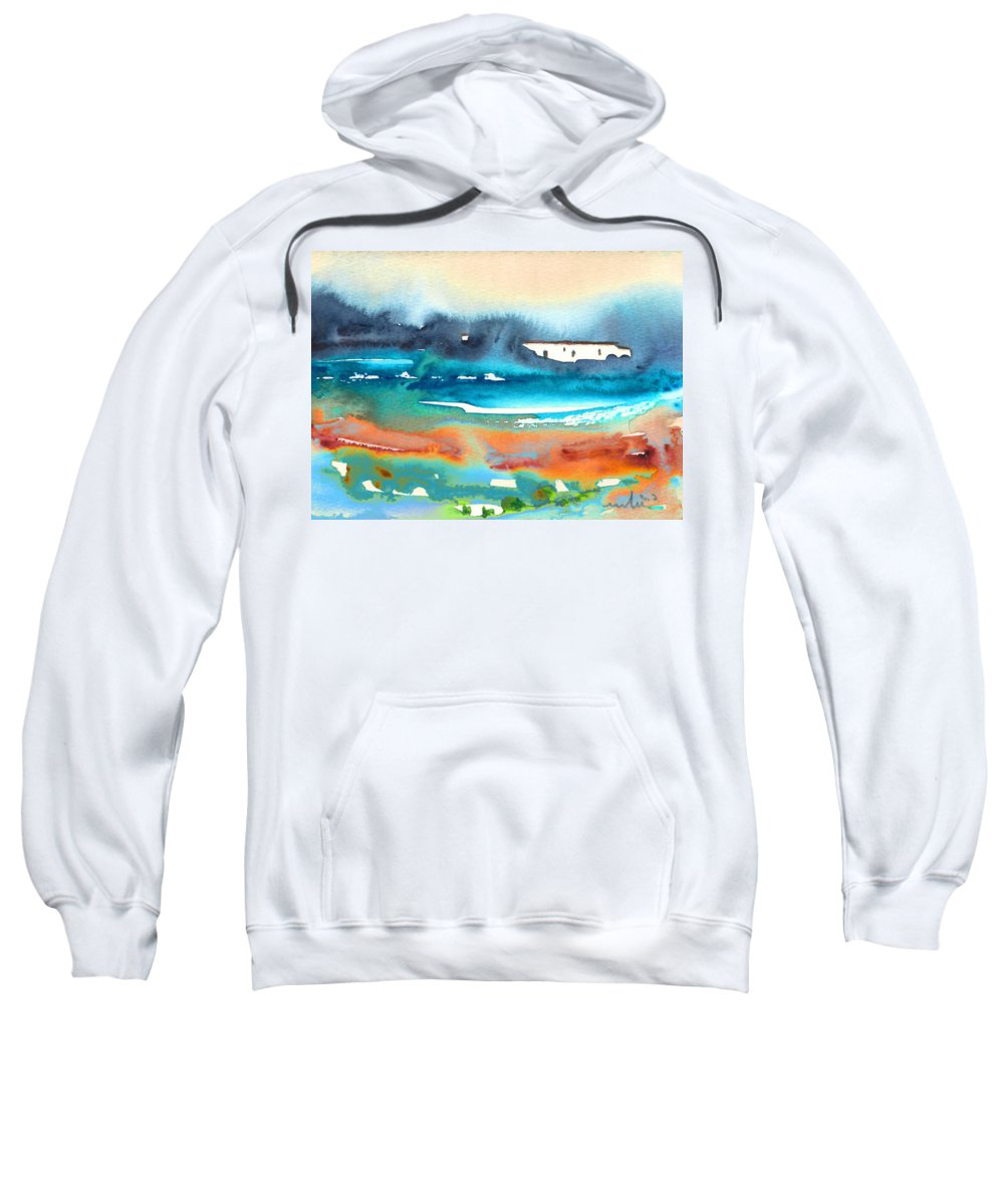 Watercolour Landscape Sweatshirt featuring the painting Early Morning 17 by Miki De Goodaboom