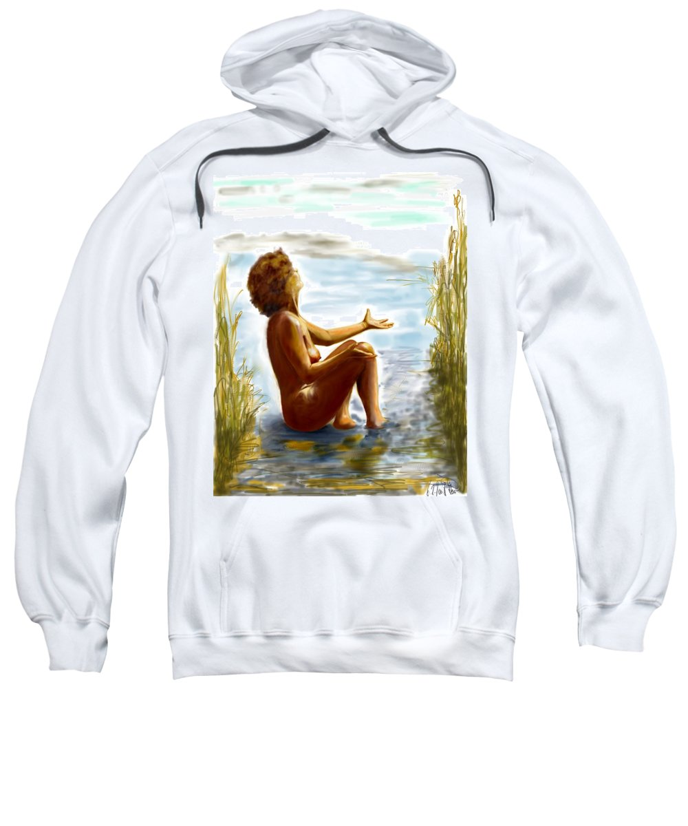 Lady Sweatshirt featuring the digital art Early Summer In Bavaria by Helmut Rottler