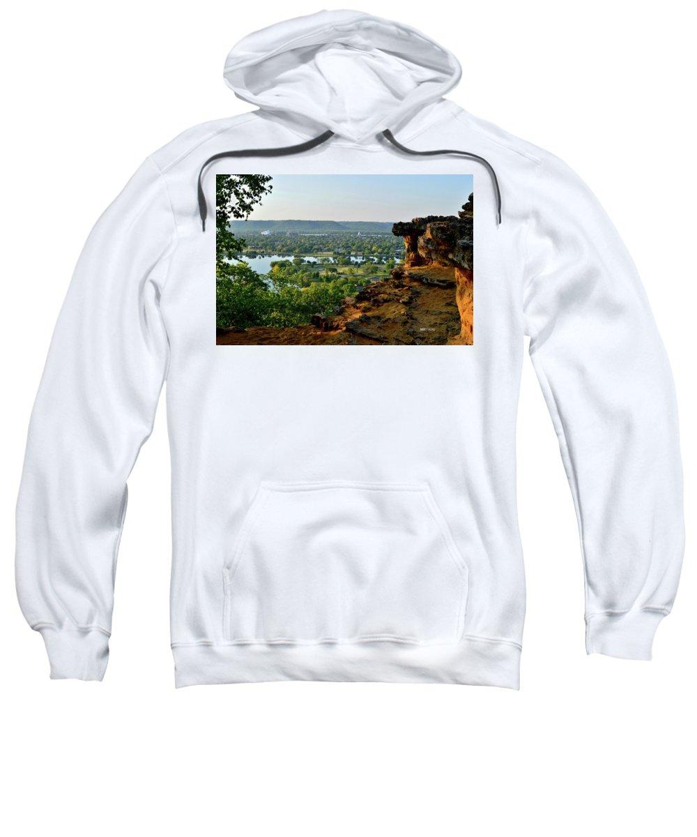 East Lake Winona Sweatshirt featuring the photograph East Lake Winona by Susie Loechler