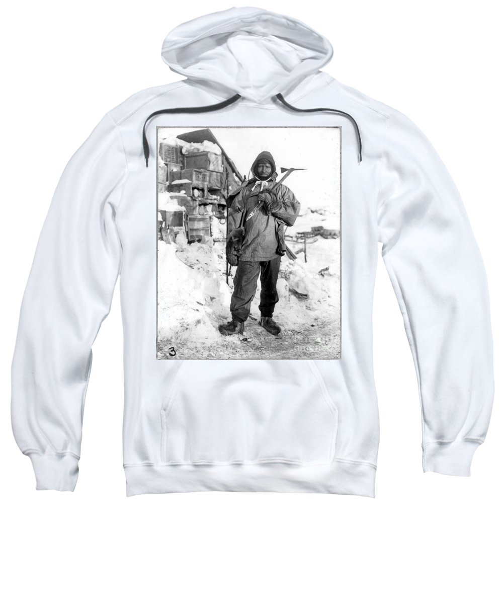 1910 Sweatshirt featuring the painting Edgar Evans (1876-1912) by Granger