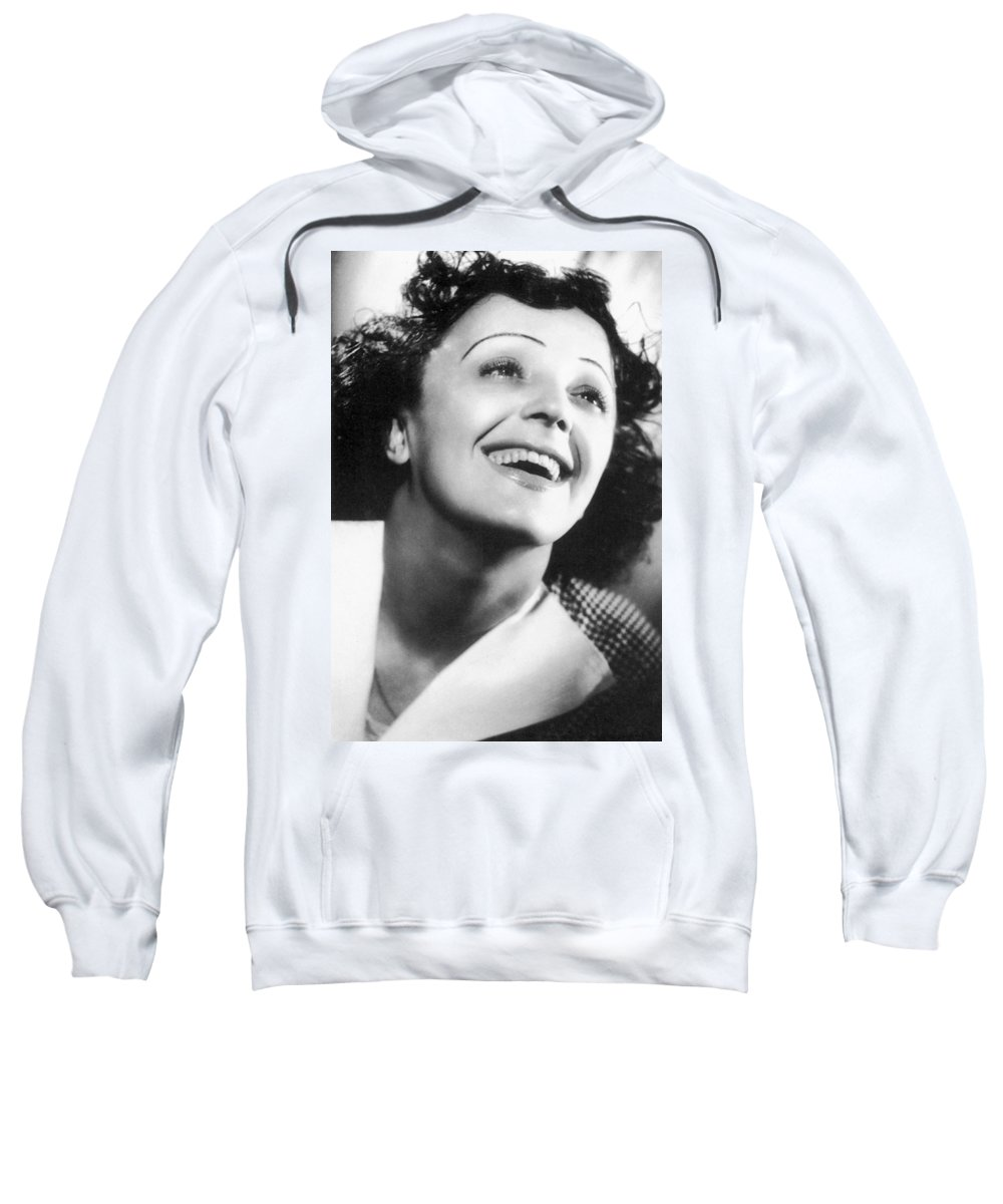 1946 Sweatshirt featuring the photograph Edith Piaf by Granger