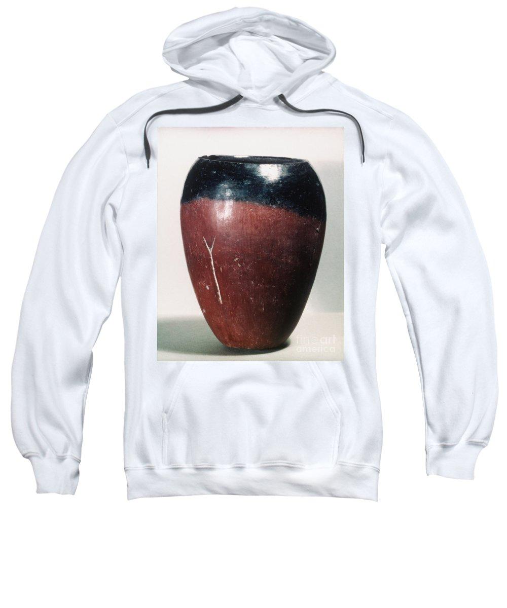 4000 B.c. Sweatshirt featuring the photograph Egyptian Vase, C4000 B.c by Granger