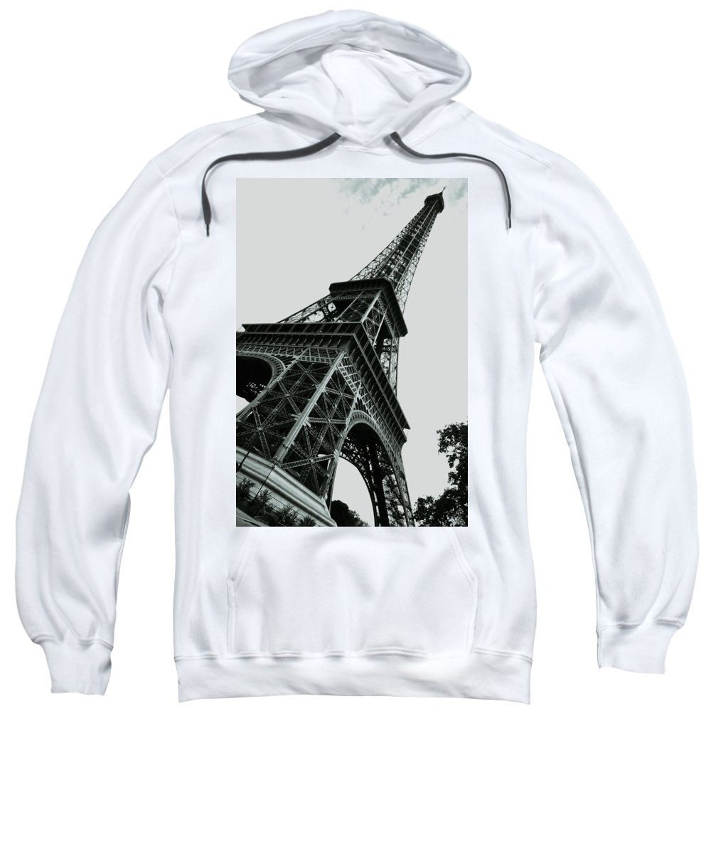 Architecture Sweatshirt featuring the photograph Eiffel Tower Slightly Askew by HD Hasselbarth
