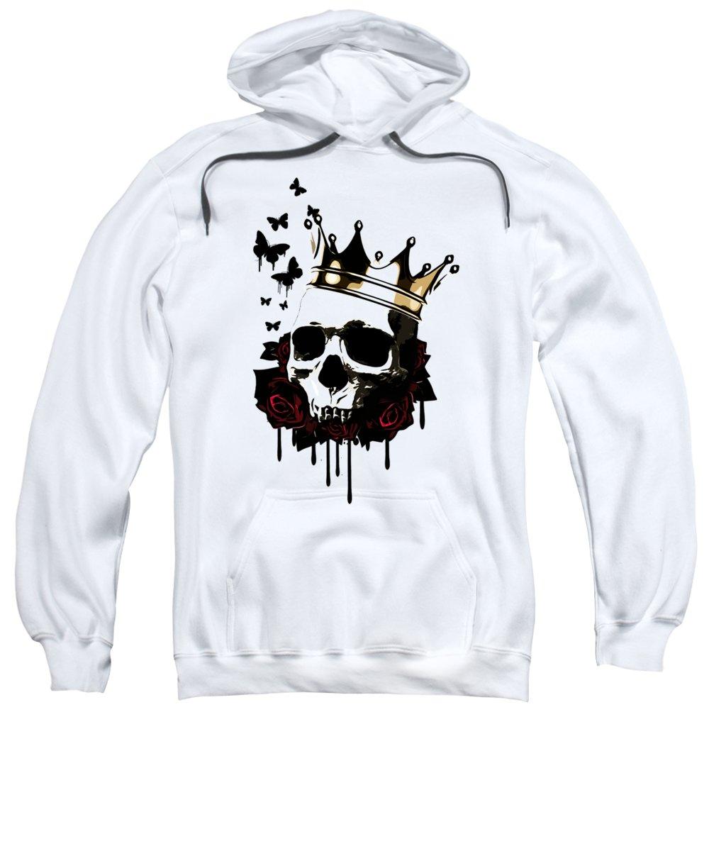King Sweatshirt featuring the digital art El Rey De La Muerte by Nicklas Gustafsson
