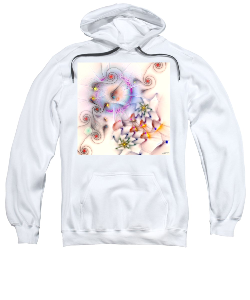 Abstract Sweatshirt featuring the digital art Elan by Casey Kotas
