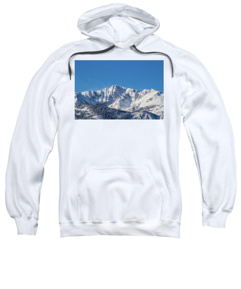 Yellowstone Sweatshirt featuring the photograph Electric Peak by Brandon Swanson