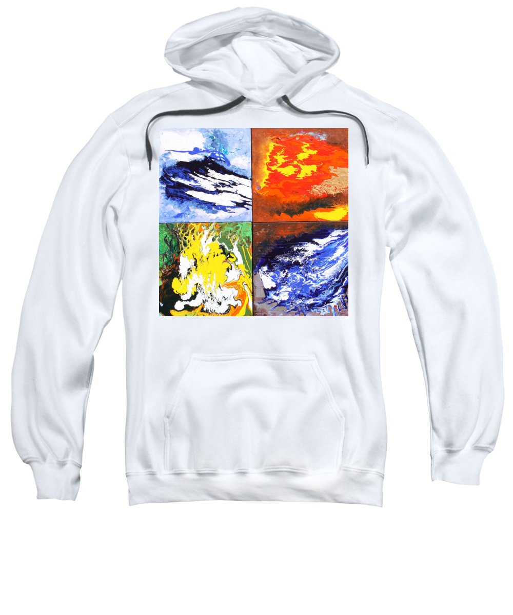 Elements Sweatshirt featuring the painting Elements by Ralph White