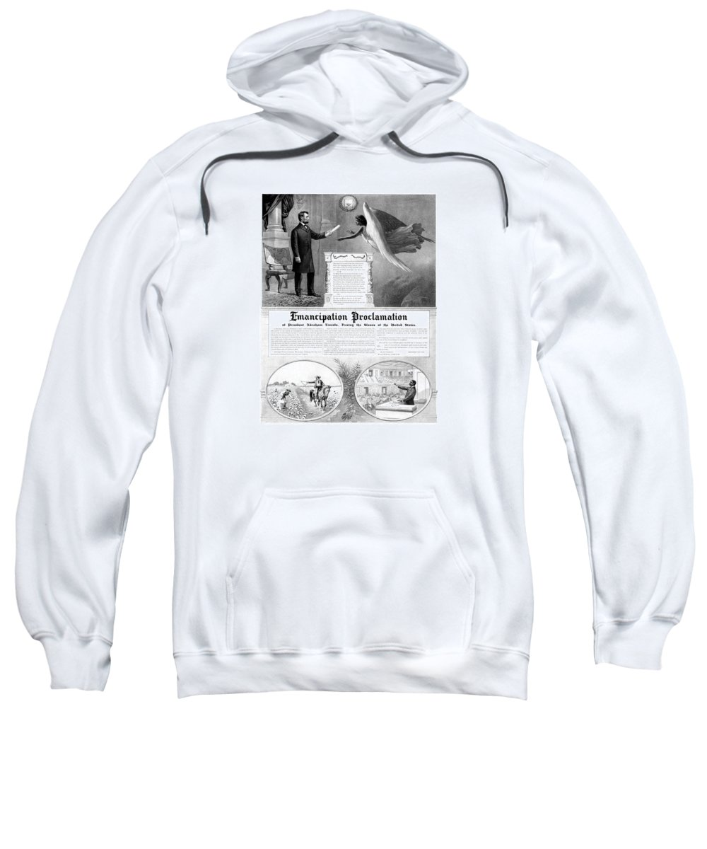 Emancipation Proclamation Sweatshirt featuring the mixed media Emancipation Proclamation by War Is Hell Store
