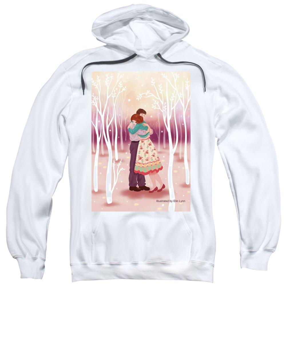 Love Sweatshirt featuring the digital art Embrace by Elin Lynn