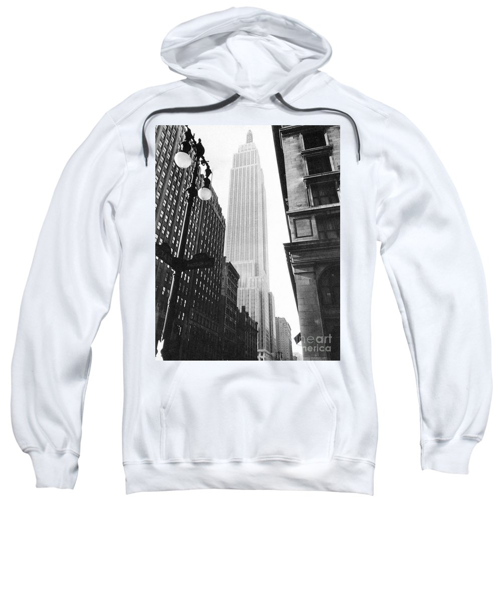 1931 Sweatshirt featuring the photograph Empire State Building, 1931 by Granger