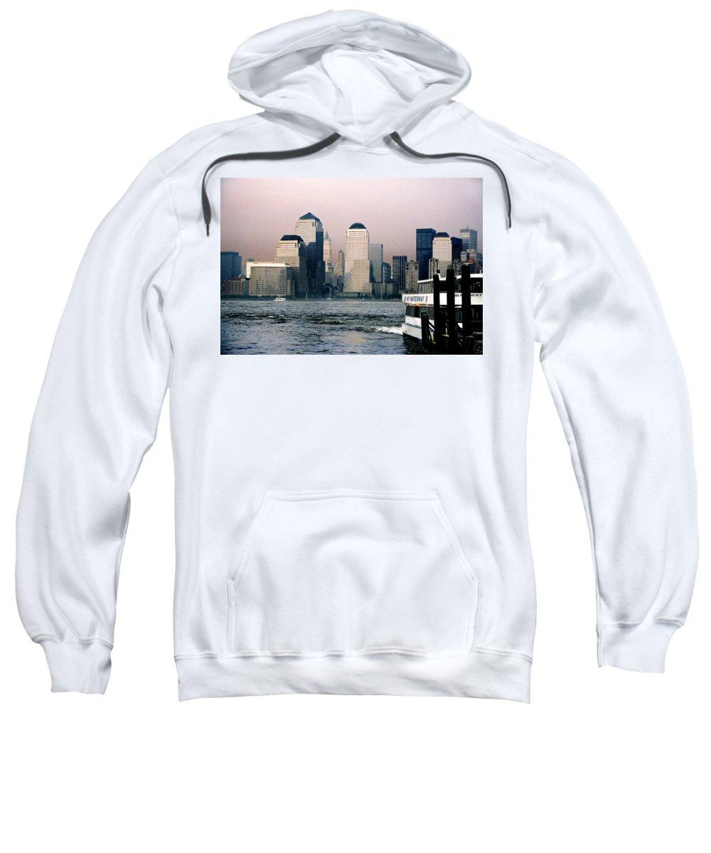 New York Sweatshirt featuring the photograph Empty Sky by Steve Karol