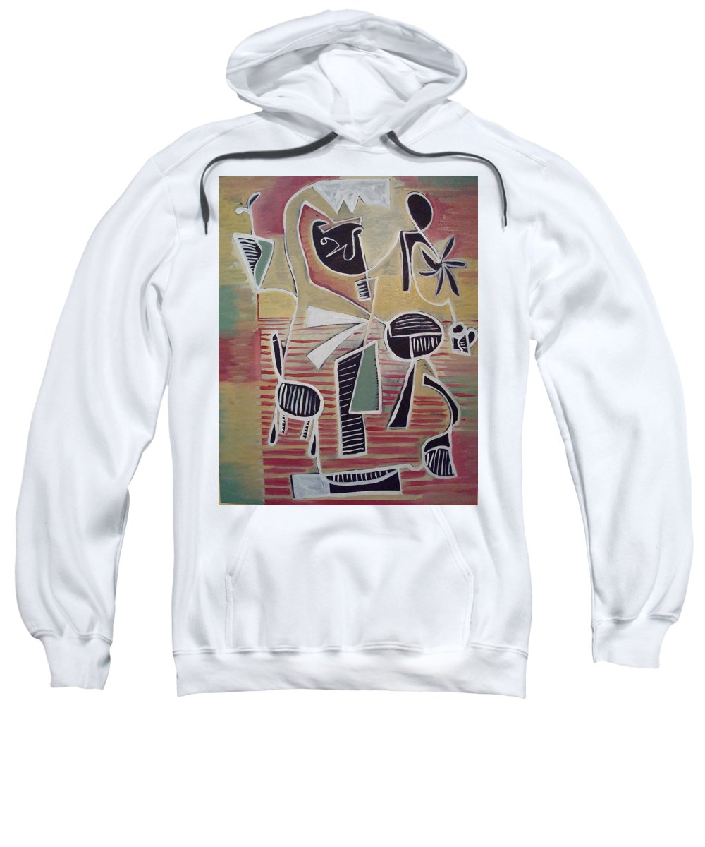 Abstract Sweatshirt featuring the painting End Cup by W Todd Durrance