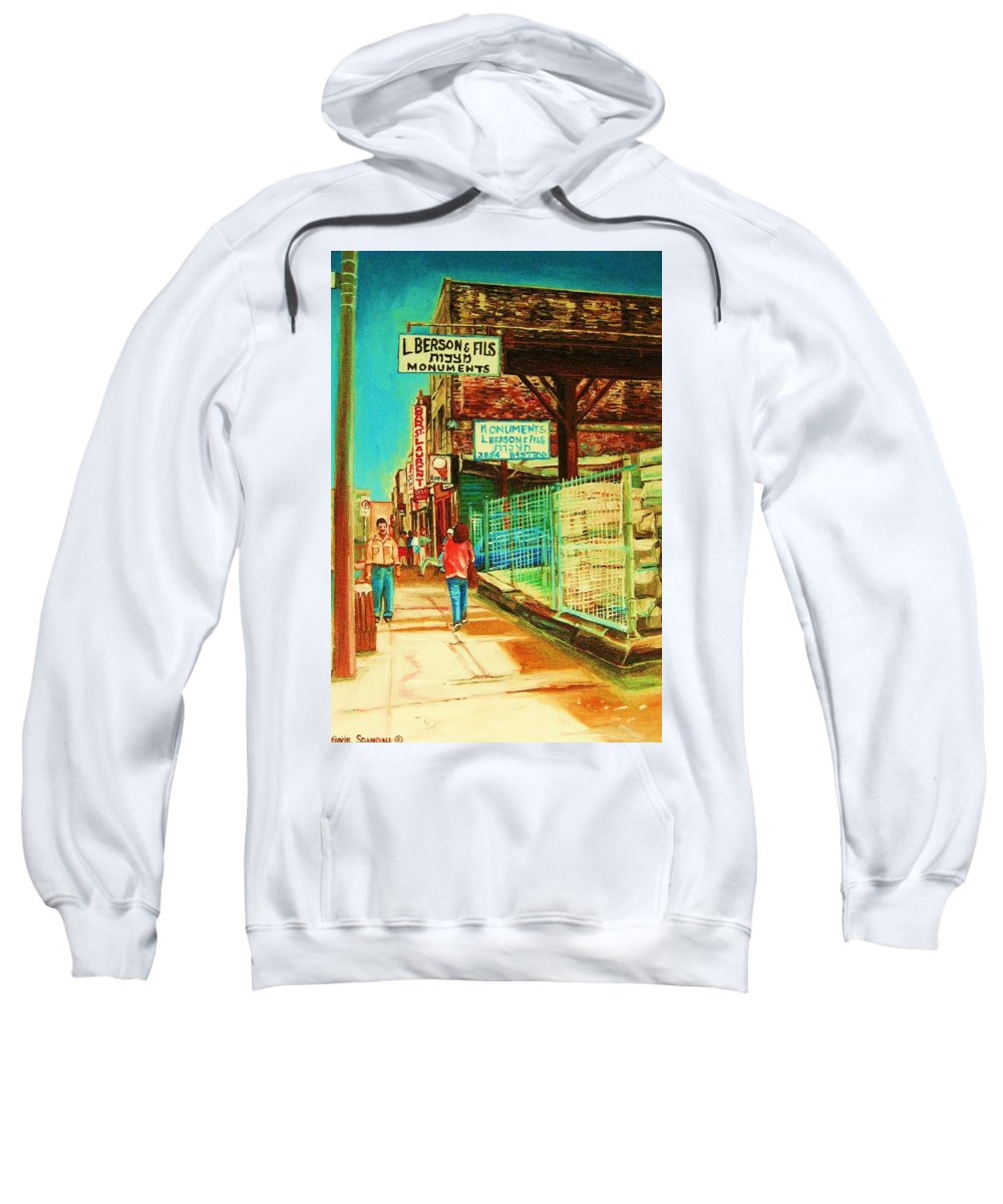 Berson Monuments Sweatshirt featuring the painting End Of Days by Carole Spandau