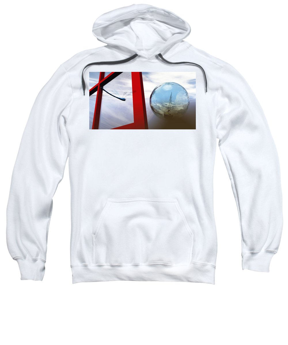 Surreal Sweatshirt featuring the digital art Endless Voyage by Richard Rizzo