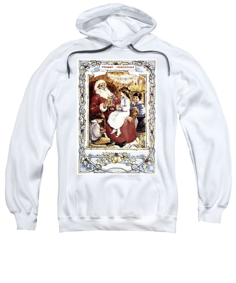 19th Century Sweatshirt featuring the photograph English Christmas Card by Granger