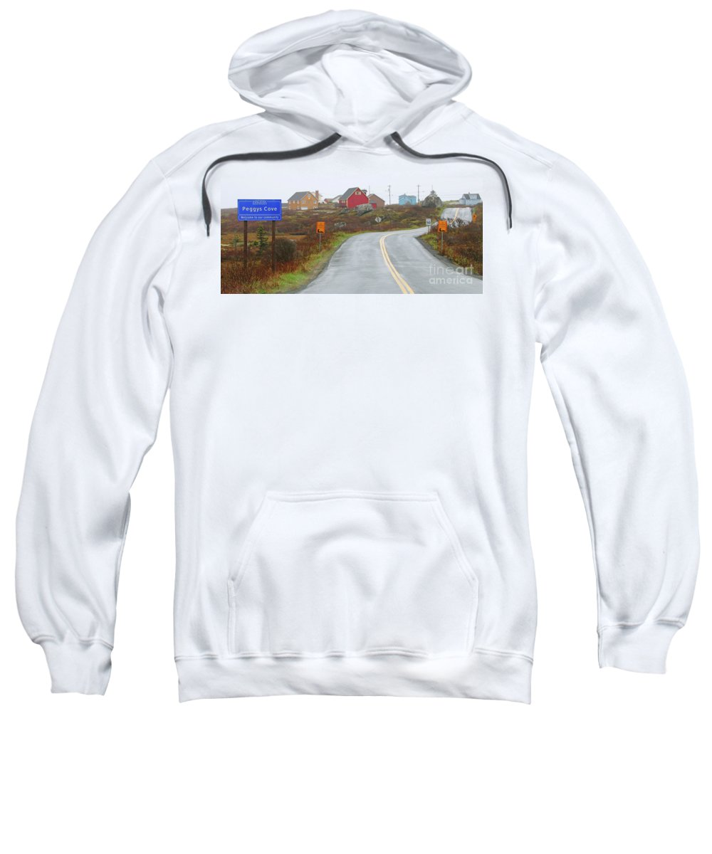 Peggy's Cove Sweatshirt featuring the photograph Entering Peggys Cove 6068 by Jack Schultz