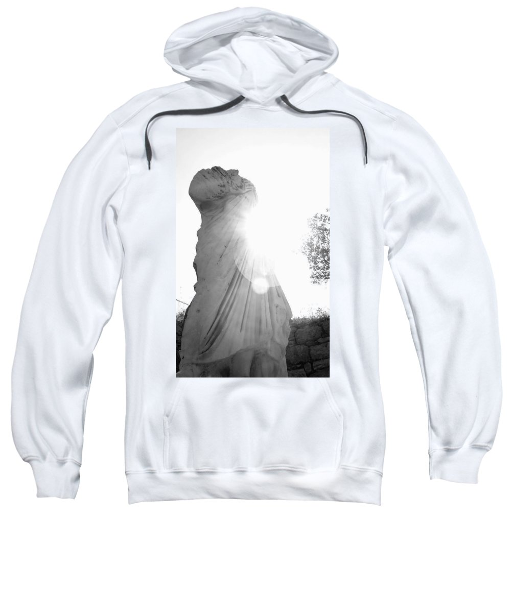Statue Sweatshirt featuring the photograph Ephesian Statue by Jennifer Kelly