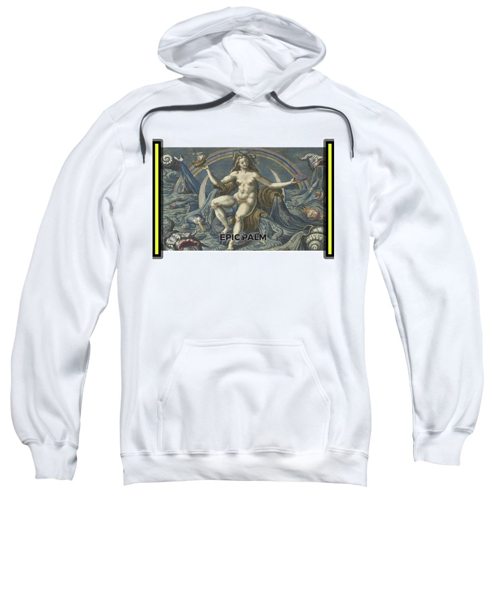 Sweatshirt featuring the tapestry - textile Epic Palm Towel by Epic Palm Towel