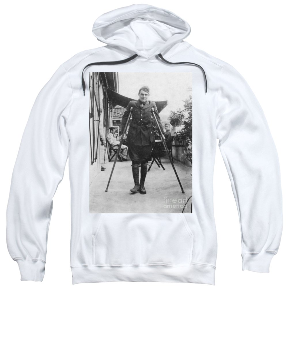 1918 Sweatshirt featuring the photograph Ernest Hemingway by Granger