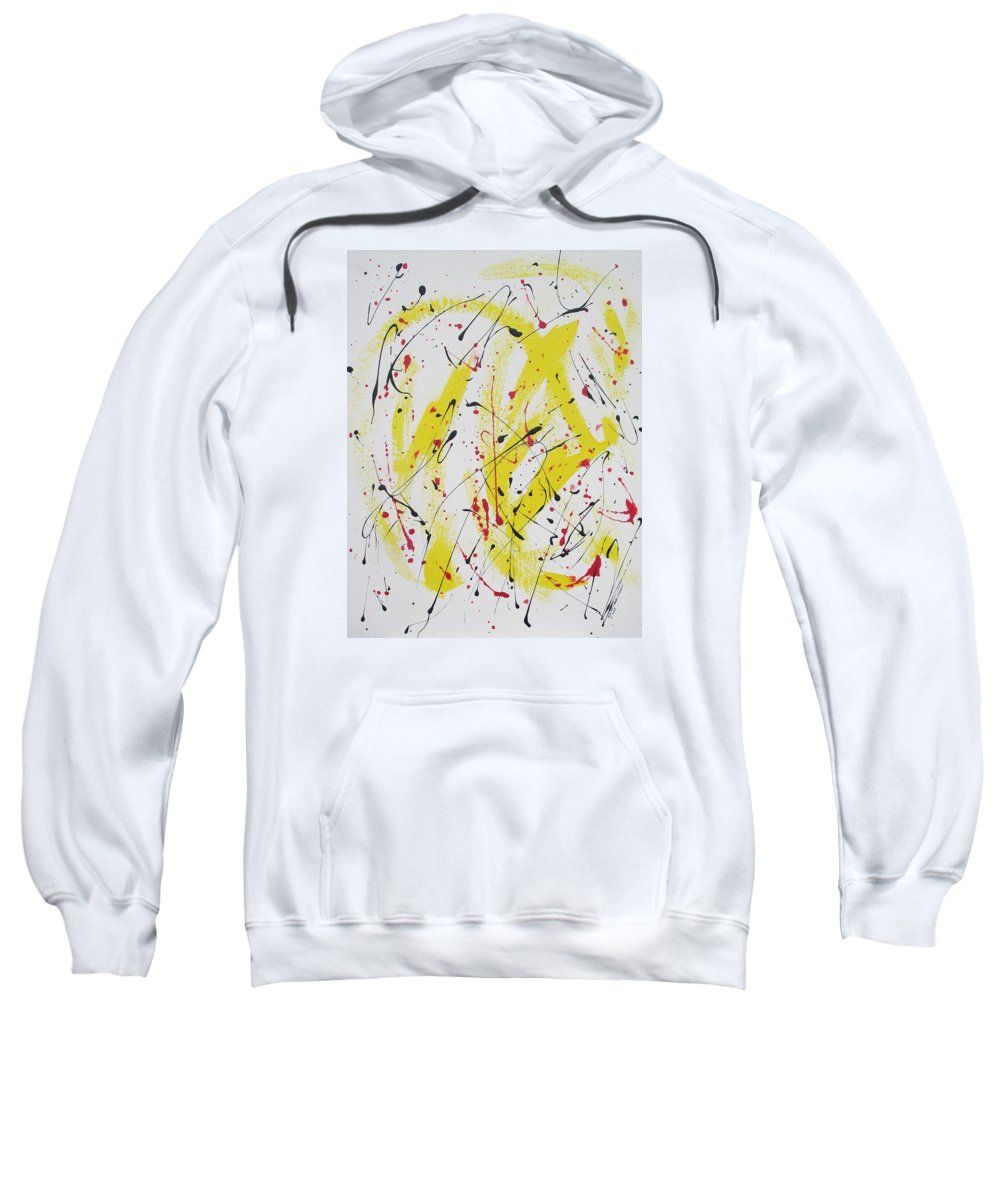 Eruption Sweatshirt featuring the painting Eruption by Arlene Wright-Correll