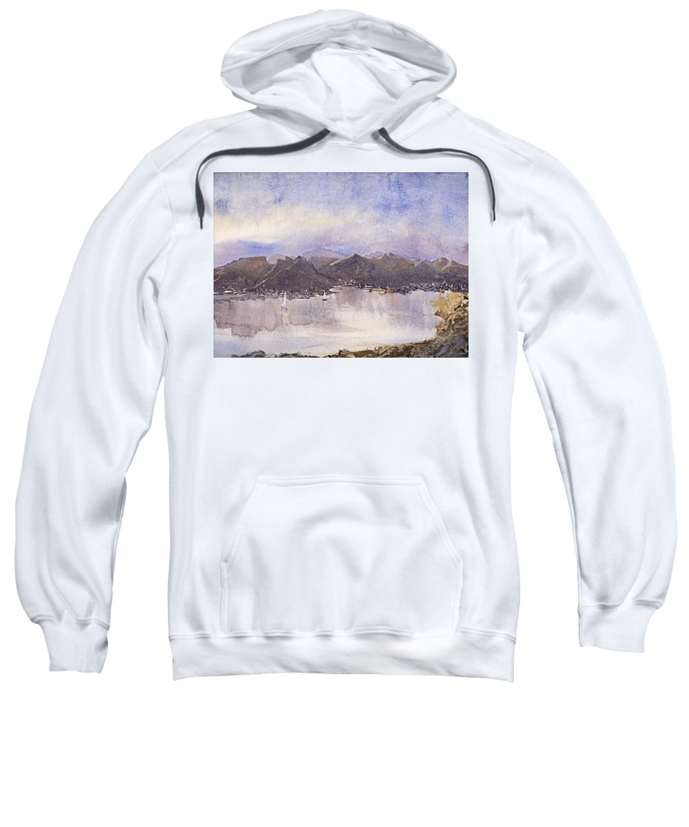 Watercolor Sweatshirt featuring the painting Escape by Barry Jones