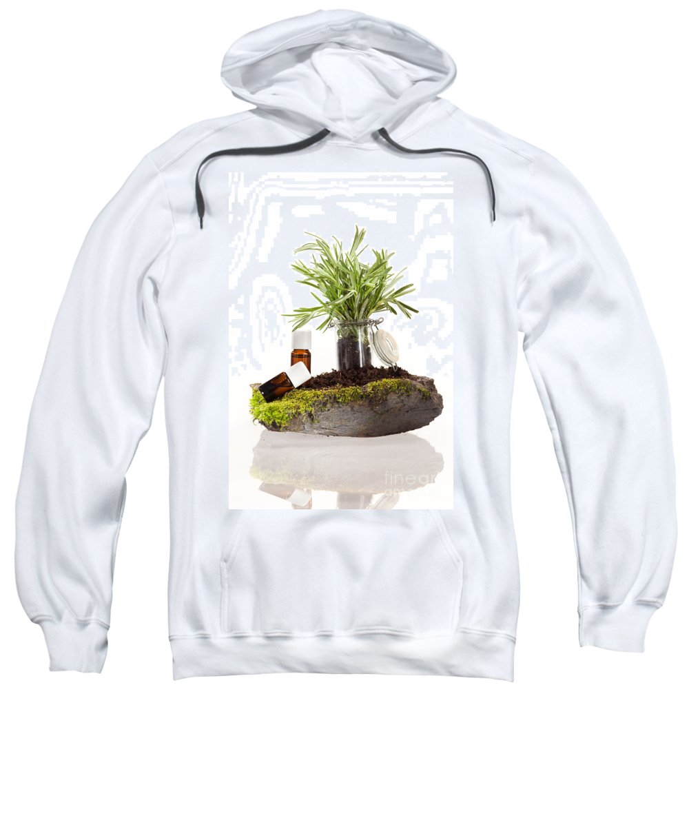 Ethereal Sweatshirt featuring the photograph Essential Oil Of Rosemary by Wolfgang Steiner