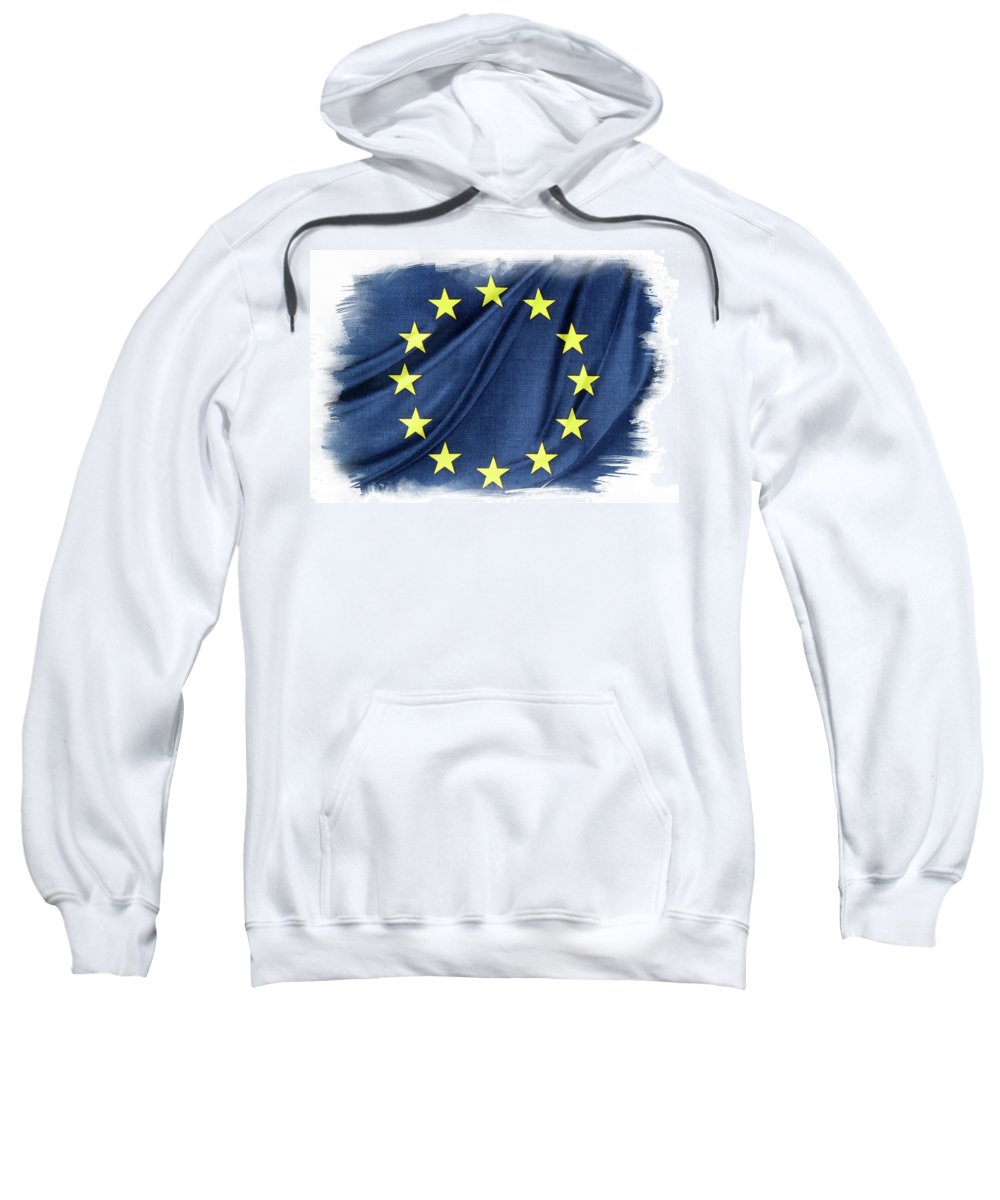 Flag Sweatshirt featuring the photograph Eu Flag by Les Cunliffe