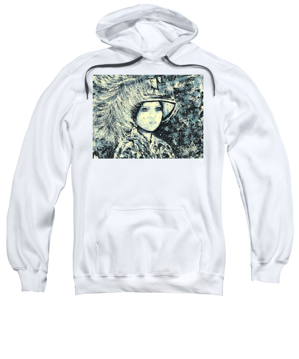 Woman Sweatshirt featuring the painting Evalina by Natalie Holland