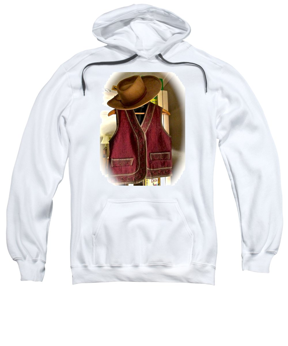 Sweatshirt featuring the photograph Even Cowgirls Get The Blues by Elizabeth Tillar