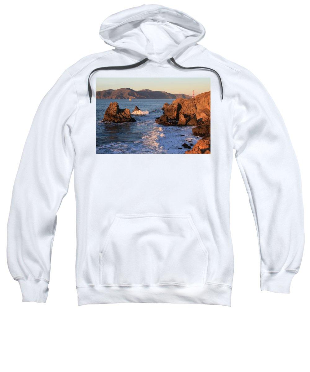 Bonnei Follett Sweatshirt featuring the photograph Evening At Land's End by Bonnie Follett