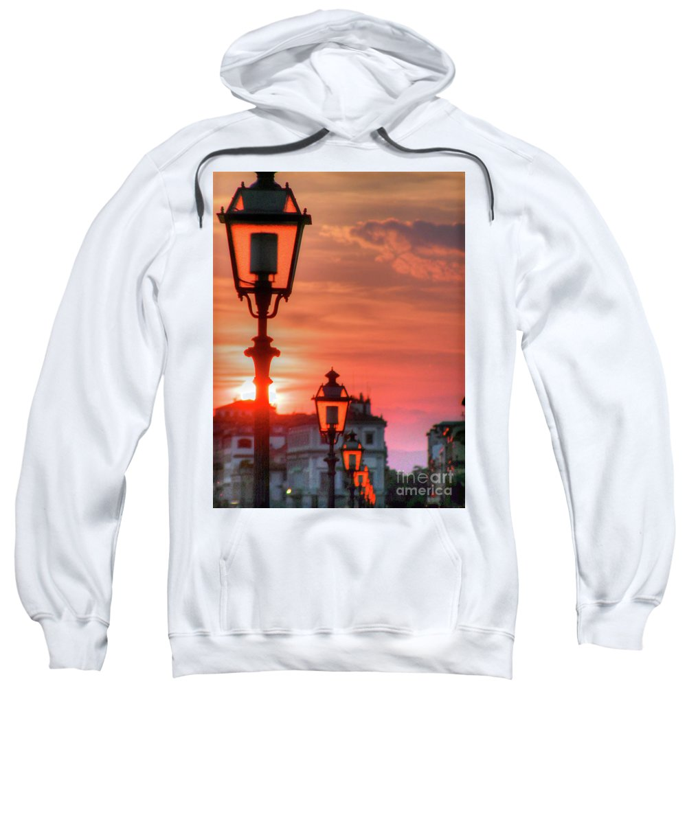Italy Sweatshirt featuring the photograph Evening In Florence by Darryl Patrick