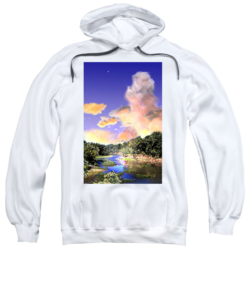 Landscape Sweatshirt featuring the digital art Evening Star by Steve Karol