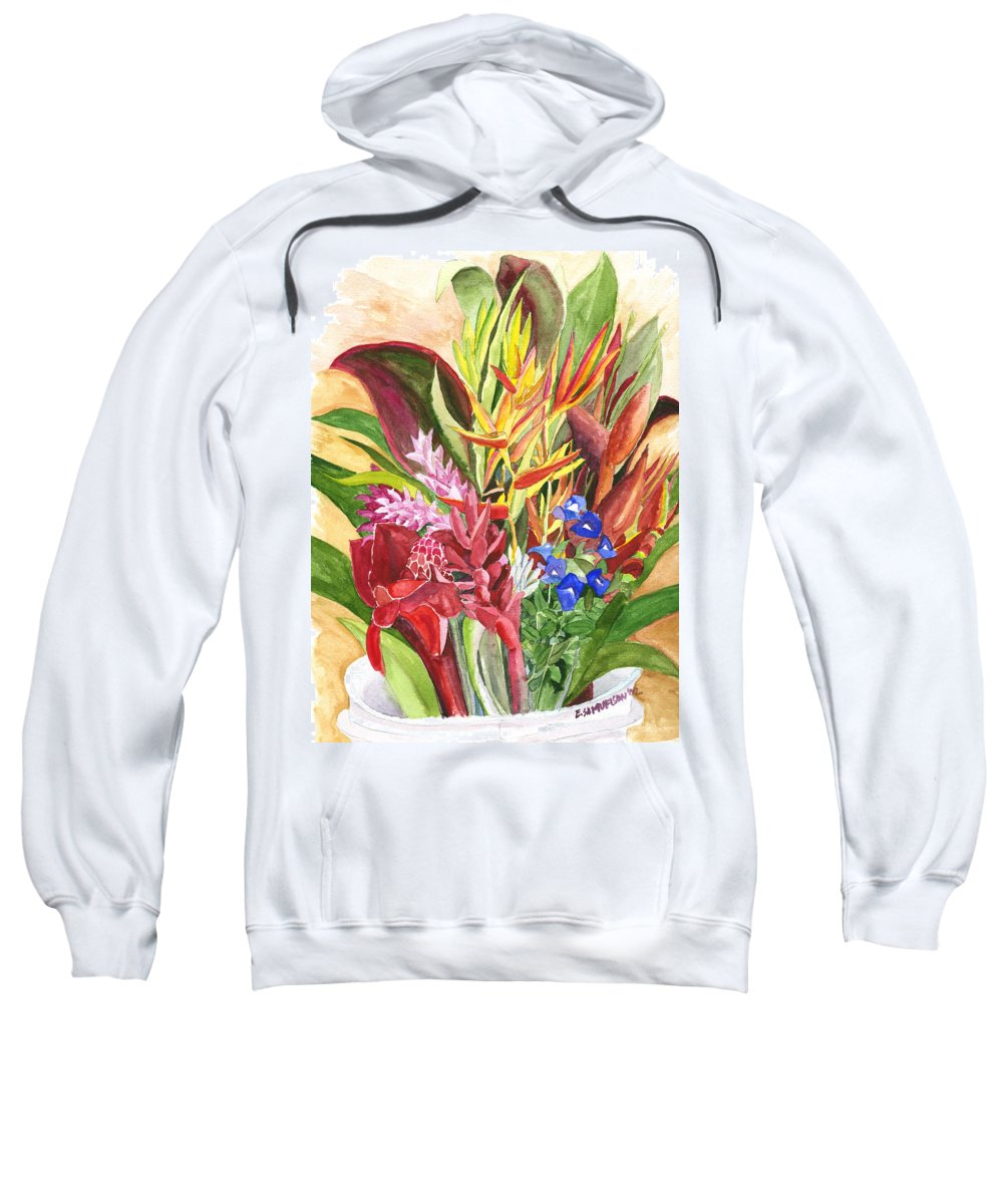 Flowers Sweatshirt featuring the painting Everywhere There Were Flowers by Eric Samuelson