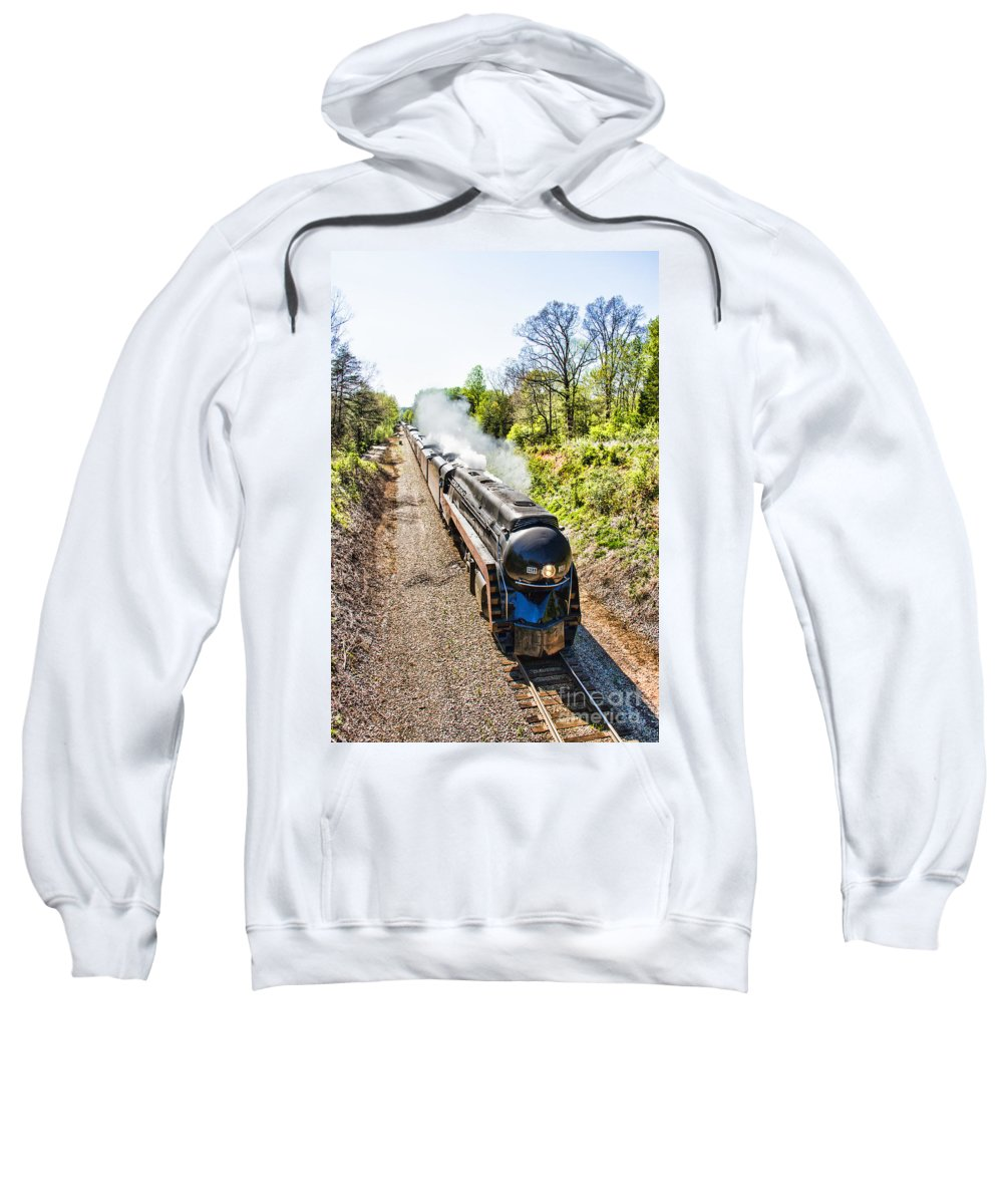 Train Sweatshirt featuring the photograph Excursion 611 by Rebecca Raybon