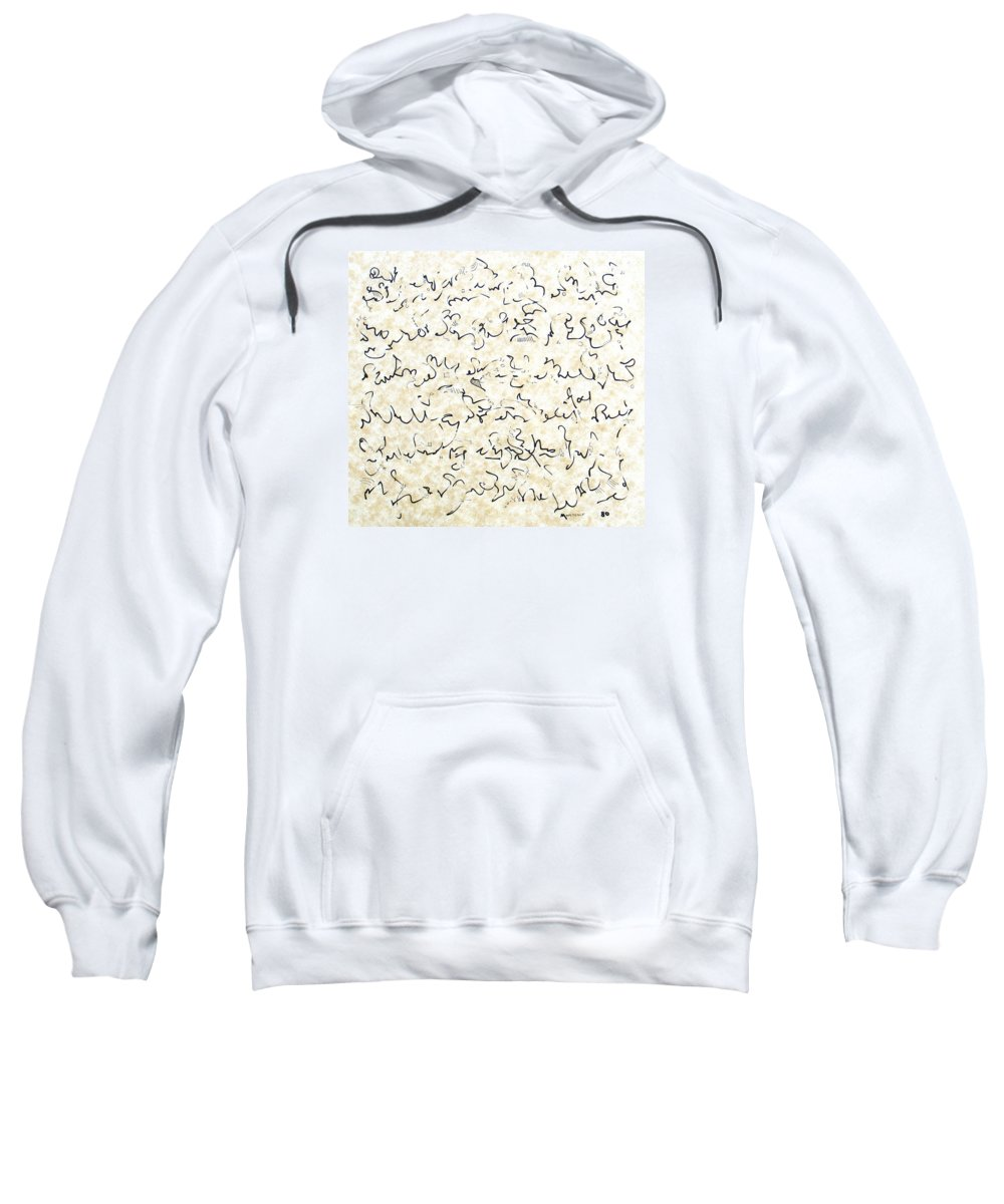 Calligraphy Sweatshirt featuring the drawing Executive Summary With Notes by Dave Martsolf