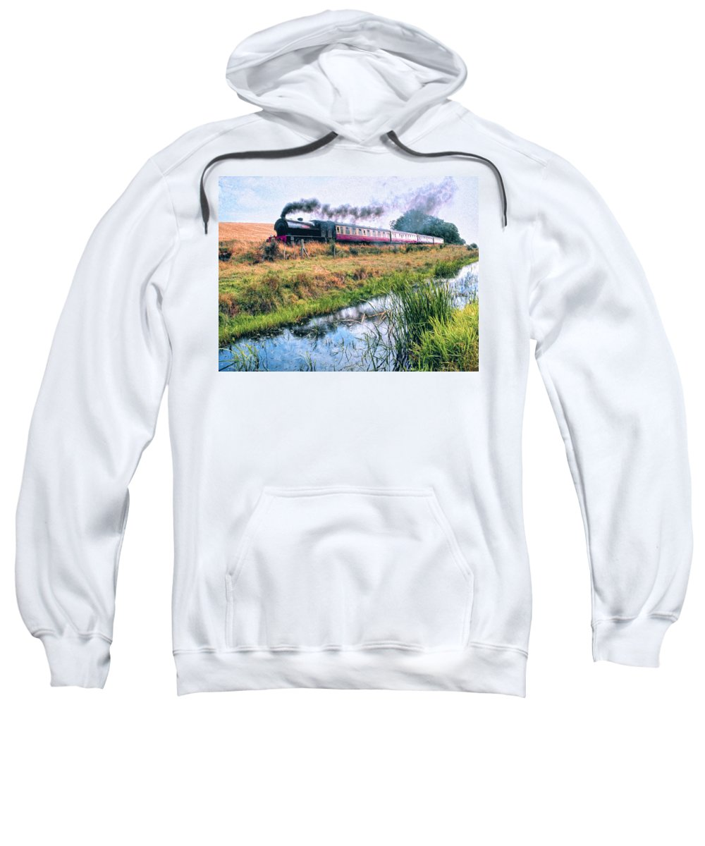Railway Sweatshirt featuring the painting Express by Dominic Piperata